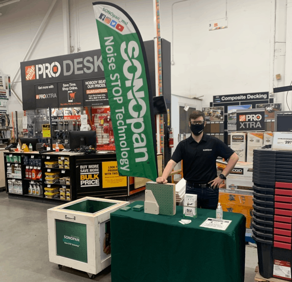 SONOpan Soundproofing with Noise STOP Technology Home Depot